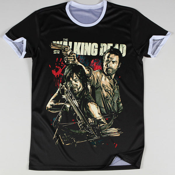 The Walking Dead 3D Oversize Print Rick and Daryl Ringer Tshirts - TshirtNow.net - 4
