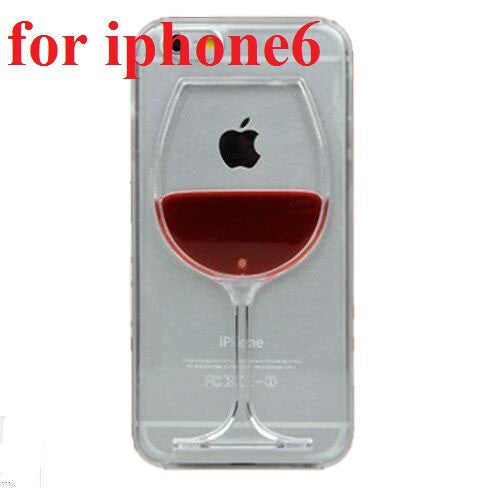 Wine Lovers Red Wine Cup Liquid Transparent Case Cover For Apple iPhone 4 4S 5C 5 5S 6 6S 6 Plus All Models Phone Cases Back Covers - TshirtNow.net - 7