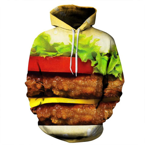 Hamburger Patties Allover 3D Print Hoodie