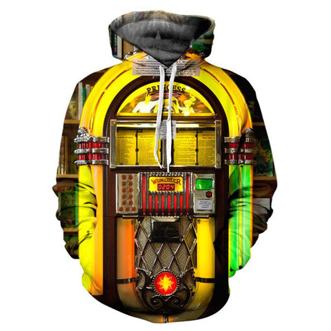 Jukebox Allover 3D Print Hoodie