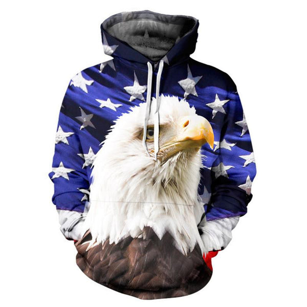 American Eagle Allover 3D Print Hoodie