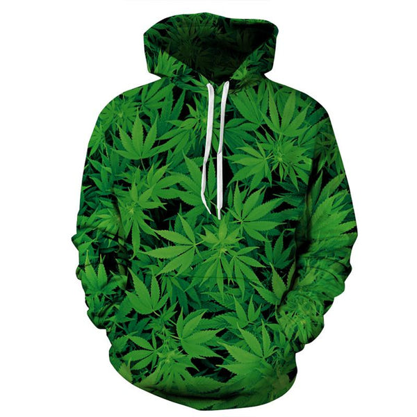 Pot Leaves Allover 3D Print Hoodie