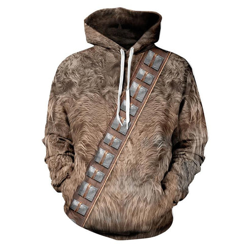 Chewbacca Allover 3D Print Hoodie