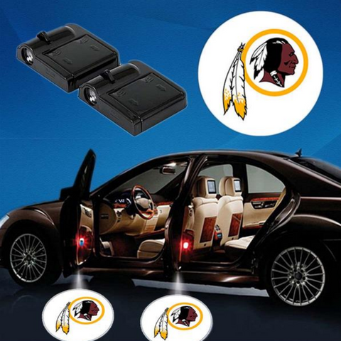 2 NFL WASHINGTON REDSKINS WIRELESS LED CAR DOOR PROJECTORS