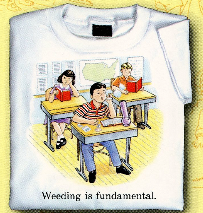 Childhood Weeding is Fundamental White Tshirt
