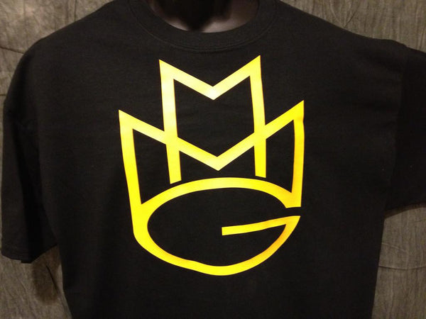 Maybach Music Group Tshirt: Black with Yellow Print - TshirtNow.net - 1