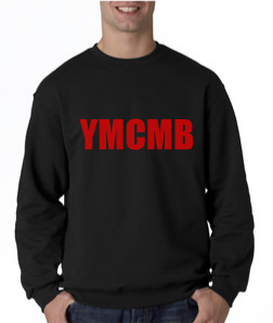 Ymcmb Crewneck Sweatshirt: Black With Red Print