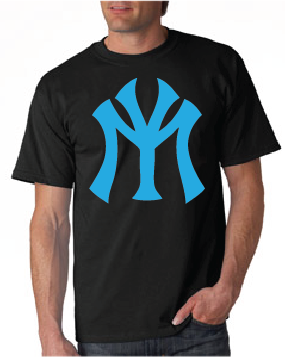 Young Money YM Logo Tshirt: Black with Teal Print - TshirtNow.net