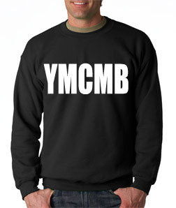 Ymcmb Crewneck Sweatshirt: Black With White Print