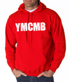 Red YMCMB Hoodie With White Print - TshirtNow.net - 1