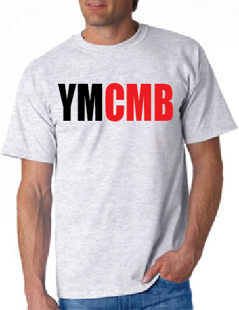 Ymcmb Tshirt: Ash With Black and Red Print - TshirtNow.net