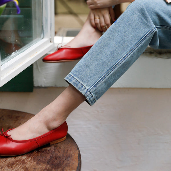 French Retro Red Loafer