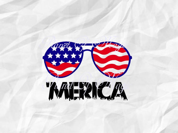 Merica Svg, 4th Of July Svg, Patriotic Svg