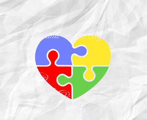 Autism Heart Svg, Awareness Svg, Autism Puzzle Svg