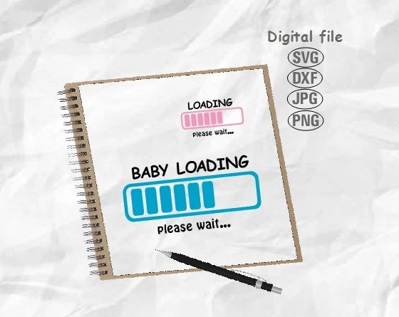 Baby Loading Svg, Maternity Svg, Loading Svg
