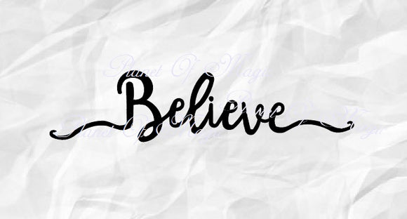 Believe Svg, Christmas Sign Svg