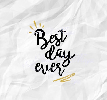 Best Day Ever Svg, Wedding Svg