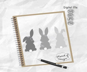 Bunny Svg, Easter Svg, Cute Bunny Svg, Easter Bunny Svg