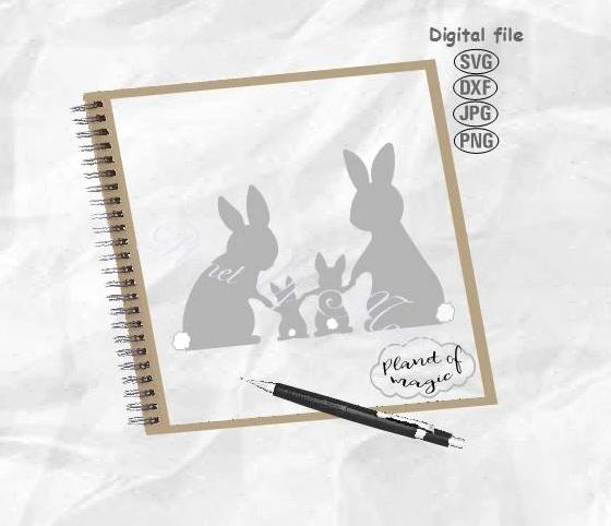 Bunny Family Svg, Easter Svg, Easter Bunny Svg, Rabbit Family Svg
