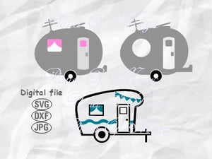Camper Svg, Camping Svg, Vacation Svg, Camp Svg, Trailer Svg