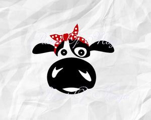 Cow Svg, Cow Bandana SVG, Heifer Svg