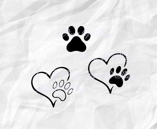 Paw Svg, Pet Love Svg, Dog Paw Svg, Dog Lover Svg, Paw Print Svg
