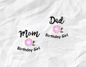 I'm One Donut Svg, Birthday Donut Svg, Mom Of Donut Svg, Mom Of Birthday Girl Svg