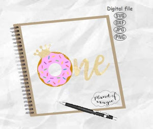 I'm One Svg, Donut One Svg, Donut Crown Svg, 1st Birthday Svg