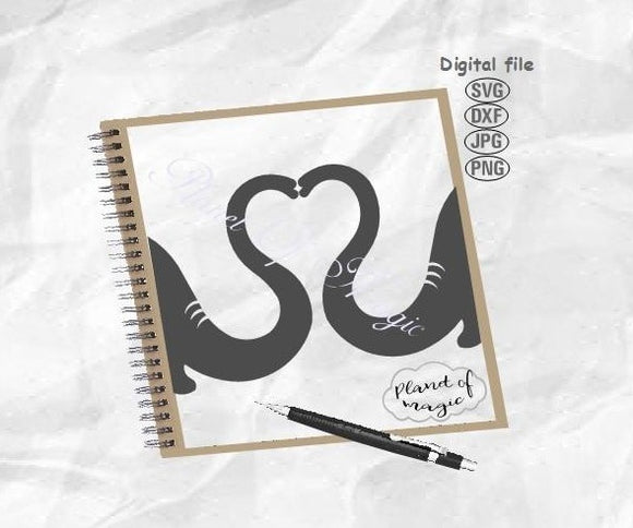 Elephant Svg, Elephant Snout Svg, Elephant Heart Svg, Elephant Love Svg