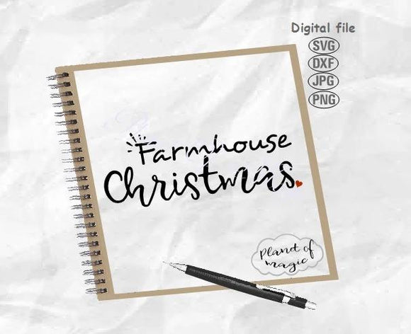 Farmhouse Christmas Svg, Christmas Svg, Farmhouse Sign Svg, Farmhouse Svg, Christmas Cut File