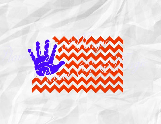 4th of July Svg, American Flag Svg, Usa Flag Svg, Patriotic Svg, Chevron Flag Svg, Baby Hand Flag Svg