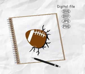 Football Svg, Football Wall Svg, Football Ball Svg, Sport Svg, Foorball Png