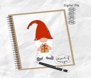 gnome svg, Christmas gnome, gnome gift box