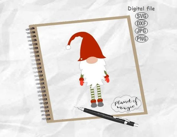 Gnome Svg, Christmas Gnome Svg, Cute Gnome Svg, Christmas Svg, Gnome With Long Legs Svg
