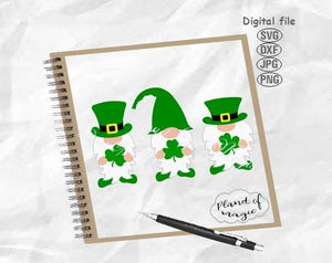 St. Patrick's Day Gnome Svg, St. Patrick's Day Svg, Gnome Svg, Shamrock Svg