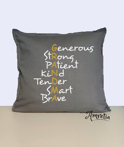 Grandma Pillow, Grandmother Pillow, Gift For Grandma, Grandma Acronym Pillow, Mother Day Gift, Grandma Quote Pillow
