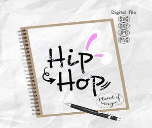 Easter Svg, Hip Hop Easter Svg, Hip Hop Svg, Bunny Ears Svg