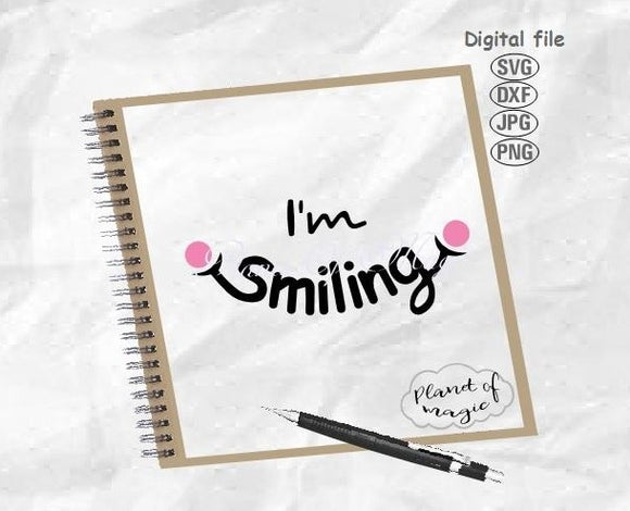 I'm Smiling Svg, Face Mask Svg, Design For Face Mask Svg, Funny Face Mask Svg, Smile Svg, Smiling Svg