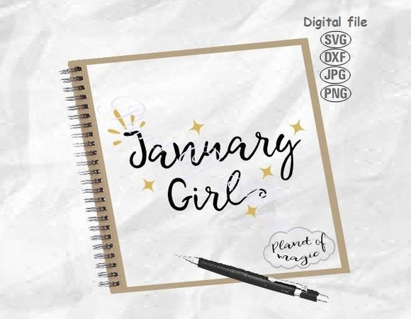 January Birthday Svg, January Girl Svg, Birthday Girl Svg, January Svg, Birthday Shirt Svg