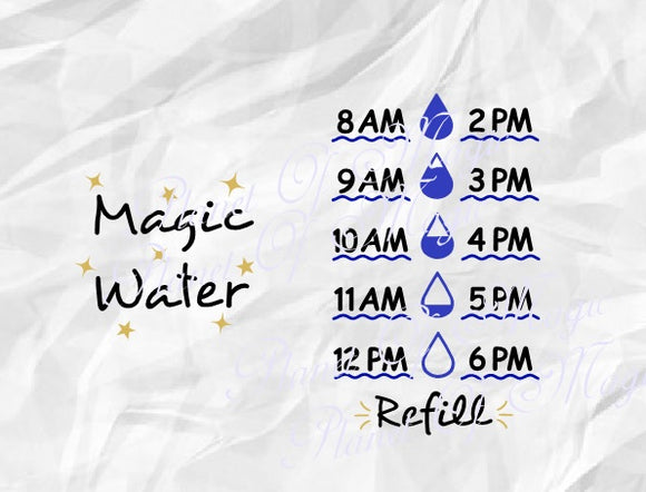 Water Tracker Svg, Magic Water Svg
