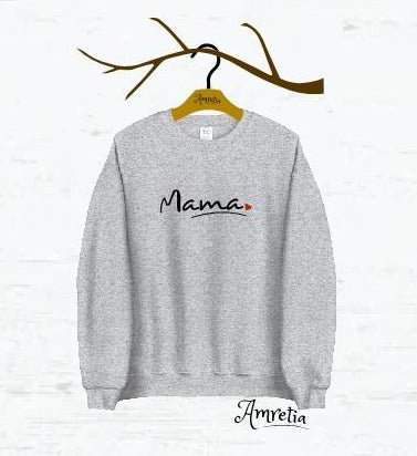 Mama Sweatshirt, Gift For Mama, New Mama Sweatshirt, Mom Sweatshirt, Mama Shirt, Mom Life Shirt