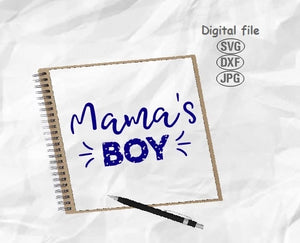 Mama's Boy Svg, Mom Of Boy Svg, Mama Of Boy Svg, Mom Life Svg