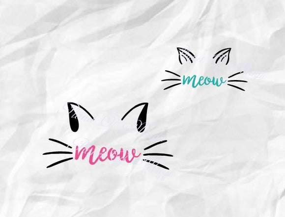 Meow Svg, Cat Svg, Cat Ear Svg, Pet Svg
