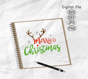 Merry Christmas Svg, Christmas Reindeer Svg, Christmas Svg