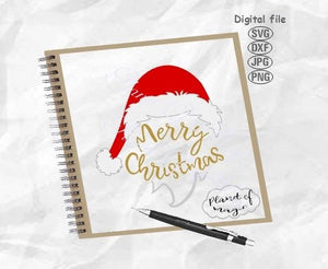 Merry Christmas Svg, Santa Hat Svg, Christmas Svg