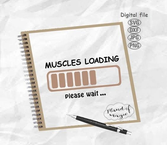 Muscles Loading Svg, Workout Svg, Gym Svg