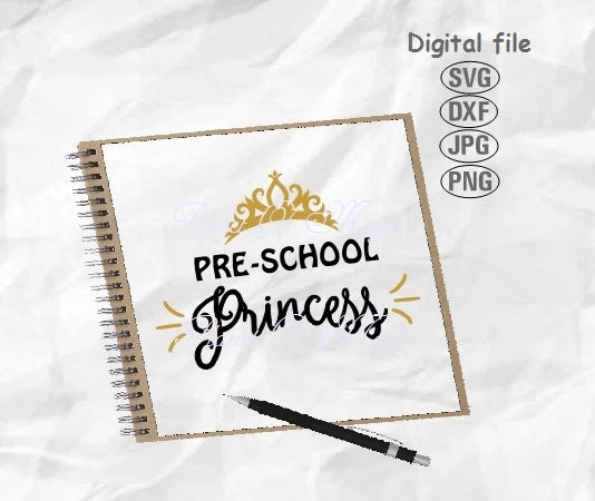 Preschool Princess Svg, Back To School Svg, School Svg
