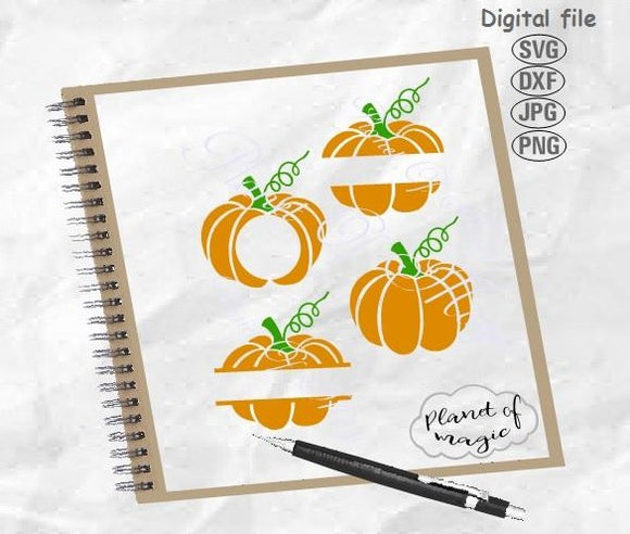 Pumpkin Monogram Svg, Halloween Svg, Pumpkin Svg, Fall Svg, Thanksgiving Svg