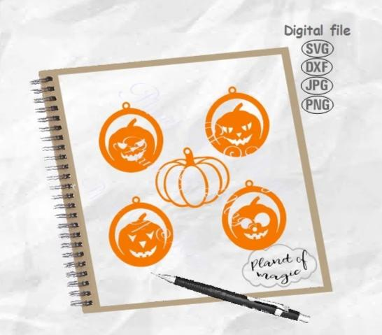Halloween Earrings Svg, Pumpkin Earrings Svg, Earring Template Svg, Jewelry Svg