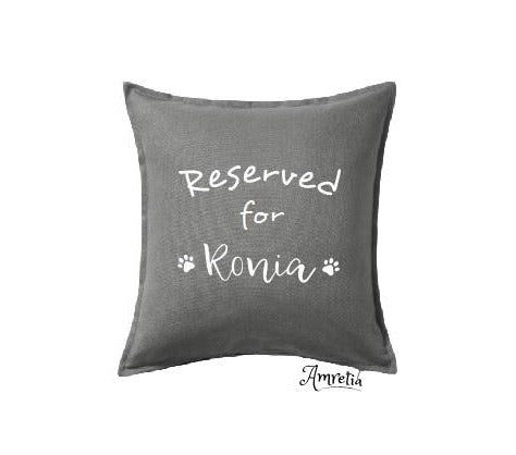 Reserved For Pillow, Dog Pillow, Reserved For Dog Pillow, Personalised Dog Pillow, Pet Pillow, Dog Lover Pillow